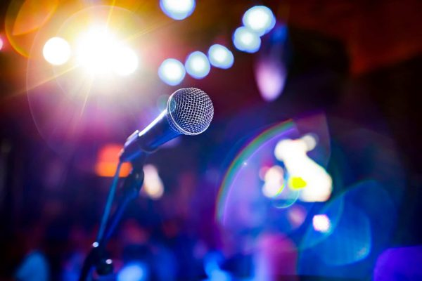 microphone-on-stage-against-a-background-of-PBTB8HA